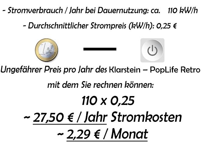 Stromverbrauch-Stromkosten-Klarstein-PopLife-Retro-Getränkekühlschrank